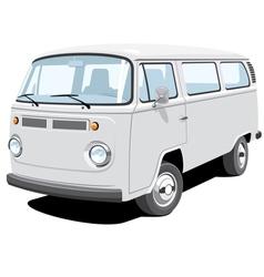 Passenger and cargo van vector