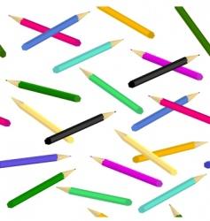 pencils seamless vector image vector image