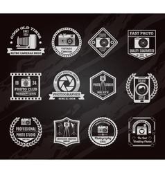 Photo Industry Chalkboard Emblems Set vector image vector image