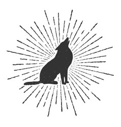 symbol of howling wolf vector image