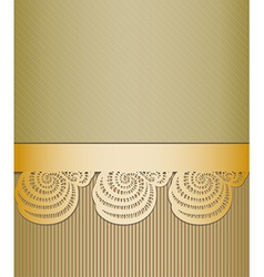 Vintage golden background vector image