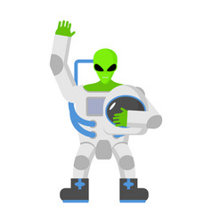 alien in space suit ufo replaced astronaut space vector image