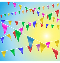 Bunting Flags vector image vector image