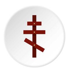 cross icon circle vector image