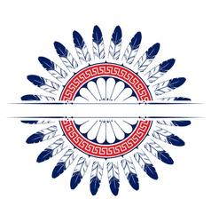 feather round emblem background design elements vector image