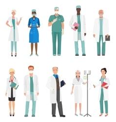 Hospital medical staff doctors Group of doctors vector image
