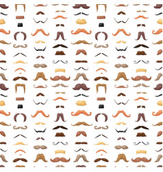 Mustaches seamless pattern vector
