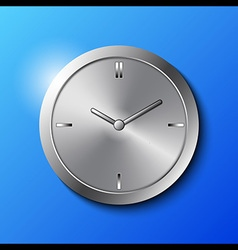 Stainless Steel Wall Clock vector image vector image