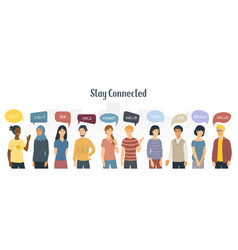 1 similar stay connected vector