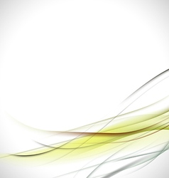 abstract colorful green curve background vector image