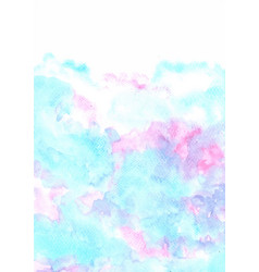 Abstract fairy tale cloud sky watercolor vector