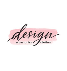 Accessories anf clothes design handwritten vector