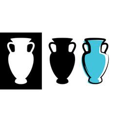 amphora image in celadon color and vector image