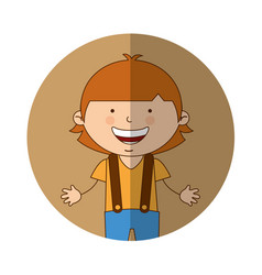 Australian little boy character vector