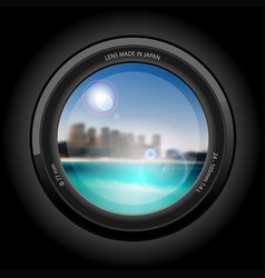 beautiful cityscape to the beach vector image