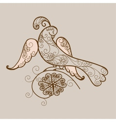 Bird ornament vector