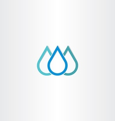 blue natural drop of water icon element vector image