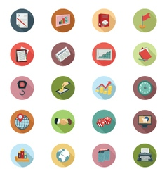 Business Flat Colored Icons 3 vector