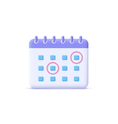 Calendar assignment icon planning concept 3d vector