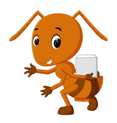 cartoon ants holding sugar slice vector image