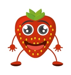 Cartoon tasty strawberry fruit vector