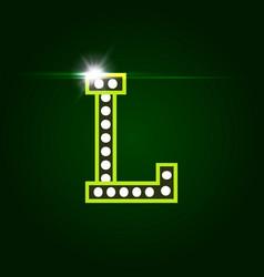 Casino and resort letter l luxury letter vector