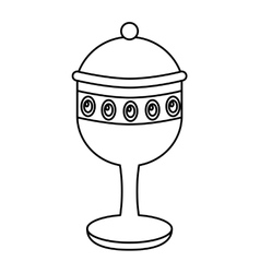chalice cup gift epiphany vector image