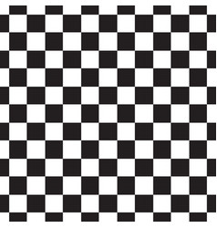 Checkerboard seamless pattern black and white vector