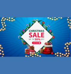christmas sale discount banner with vector image