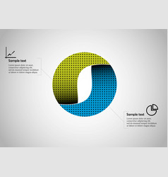 circle infographic template consists two vector image