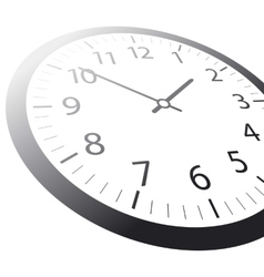 Classic time Clock web vector image