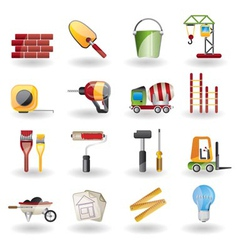 construction and building icon set vector image