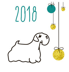 dog is a symbol of the 2018 chinese new year vector image