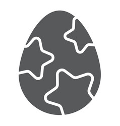 easter egg glyph icon easter and food egg sign vector image