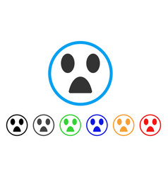 fear smile rounded icon vector image