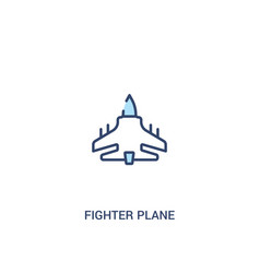 Fighter plane concept 2 colored icon simple line vector