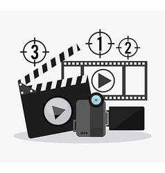 Filmstrip and video camera design vector