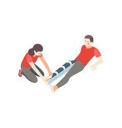 First aid leg composition vector