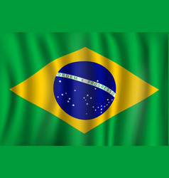 flag of brazil brazilian national symbol vector image