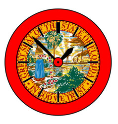 Florida state clock vector