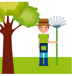 Gardener man icon vector