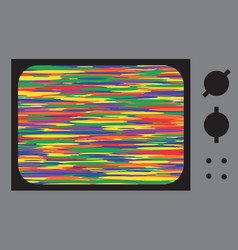 Glitch or noise tv vector