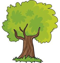green tree cartoon vector image