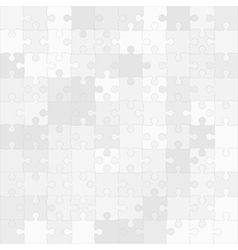 Grey Puzzles Pieces Square GigSaw - 100 vector image