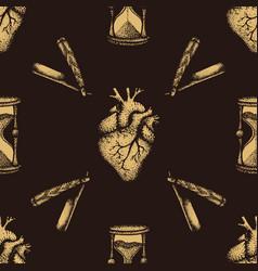 hand drawn engraving pattern vector image