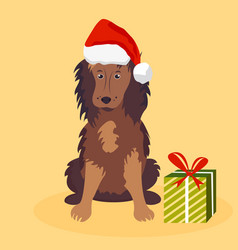 Holiday dog perfect for the year of dog 2018 vector