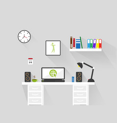 home office workspace interior vector image