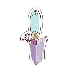 Icon dressing table vector