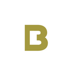 luxury logotype premium letter b logo with modern vector image