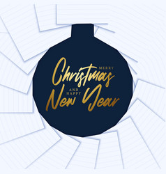merry christmas and happy new year minimal vector image